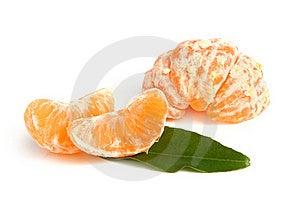 Slices Of Peeled Tangerine Royalty Free Stock Image - Image: 18166616
