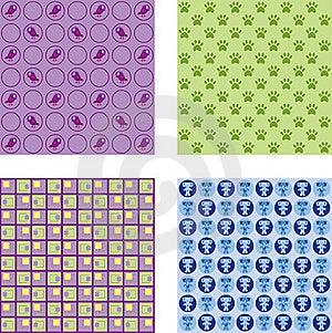Seamless Wallpaper Pattern Stock Image - Image: 18167181