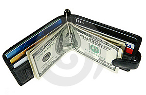Wallet With Dollars Royalty Free Stock Photography - Image: 18167247