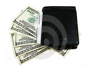 Wallet With Dollars Stock Photo - Image: 18167280
