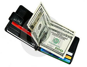 Wallet With Dollars Royalty Free Stock Photos - Image: 18167298
