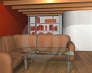 3D Interior Of A Library Room Royalty Free Stock Photos - Image: 18168138