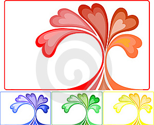 A Set Of Colorful Abstract Compositions Stock Photo - Image: 18168140