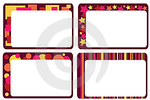 Set Of Colorful Frames Stock Image - Image: 18168421