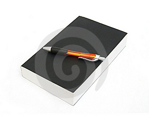 Closed Book And Pen Royalty Free Stock Image - Image: 18173846