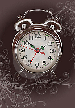 Alarm Clock -  Color Paint & Floral Ornament Stock Photography - Image: 18175532