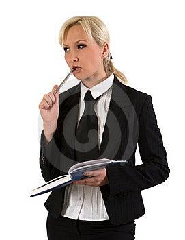 Business Woman Thinking. Stock Photo - Image: 18175780