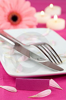 Romantic Place Setting Stock Photo - Image: 18182440
