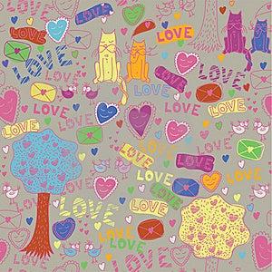 Seamless Romantic Pattern Royalty Free Stock Photo - Image: 18184575