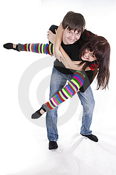 Cheerful Young Couple Stock Images - Image: 18185454
