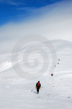 Climbers In Mountains Stock Photos - Image: 18189693