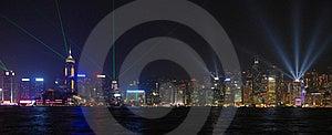 Laser Show In Hong Kong Royalty Free Stock Image - Image: 18189986