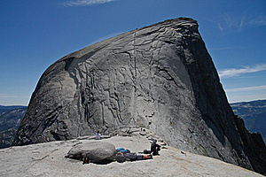 Cableway On Half Dome - Yosemite National Park Stock Images - Image: 18190174