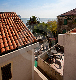 Balcony With Sea View Royalty Free Stock Images - Image: 18191539