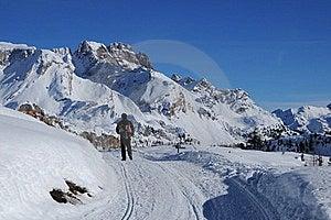 Trekking In The Dolomites Royalty Free Stock Photos - Image: 18191698