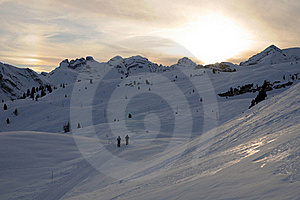 Winter Sunset Stock Images - Image: 18191824