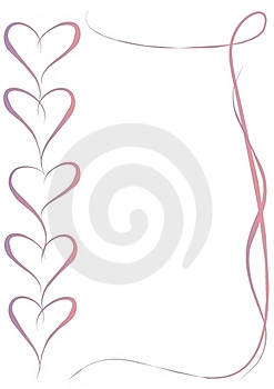 Pink Violet Hearts Frame Stock Photos - Image: 18195113