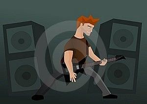 Heavy Metal Guitar Player Stock Image - Image: 18198381