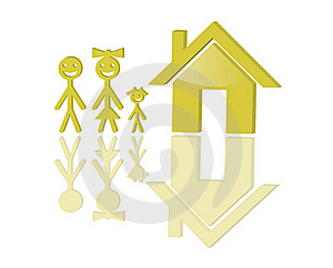 Family And House Stock Image - Image: 18198441