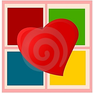 Heart On Checkered Plaid Royalty Free Stock Images - Image: 18198569