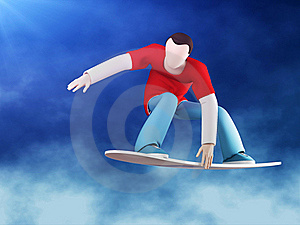 Snowboarder 3D Grab Royalty Free Stock Photography - Image: 18199347