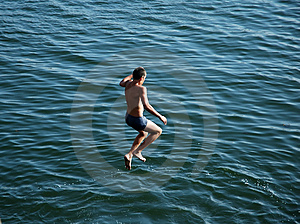 Boy Jumping Royalty Free Stock Photos - Image: 1824138