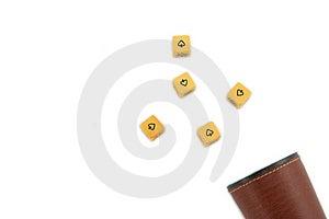 Dice Poker Game Stock Photo - Image: 1825990