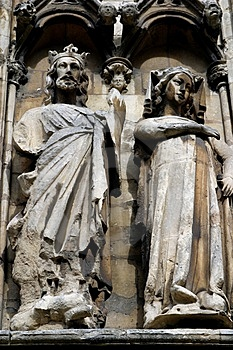 Sculptures Lincoln Cathedral Royalty Free Stock Images - Image: 1828509