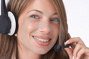 Smiling Operator Royalty Free Stock Photo - Image: 1829185