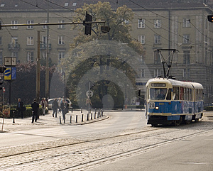 Poland Wroclaw Tram Stock Photography - Image: 1829402