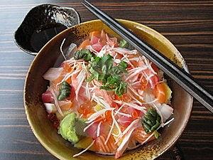 Japanese Food: Sashimi With Rice Stock Images - Image: 18202334