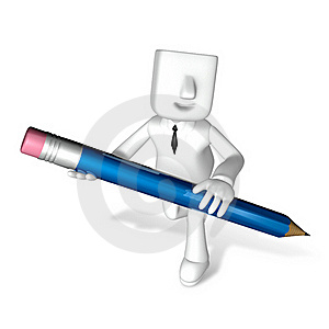 Creative 3d Business Man Writing Stock Images - Image: 18202564