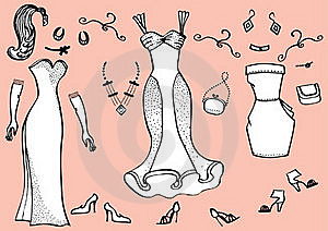 Dresses.Clothes Stock Image - Image: 18202581