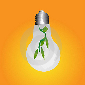 Green Energy Lamp Royalty Free Stock Images - Image: 18203089
