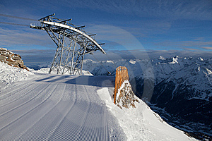 Cable-car In Alps Stock Photos - Image: 18208563