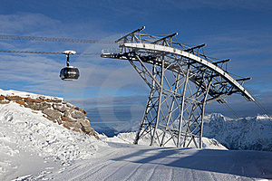 Cable-car In Alps Stock Photos - Image: 18208583