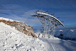 Cable-car In Alps Royalty Free Stock Images - Image: 18208619