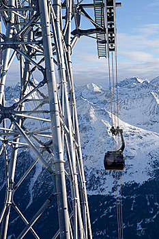 Cable-car In Alps Royalty Free Stock Photography - Image: 18208667