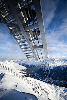 Cable-car In Alps Royalty Free Stock Image - Image: 18208736