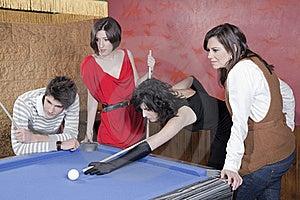 Playing Pool Royalty Free Stock Photos - Image: 18208828