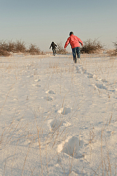 Winter Race Royalty Free Stock Images - Image: 18216579