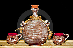 Romanian Traditional Clay Pots Royalty Free Stock Photography - Image: 18218917