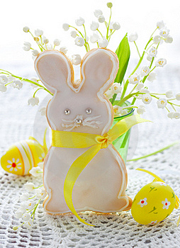 Easter Bunny Cookie Royalty Free Stock Image - Image: 18220076