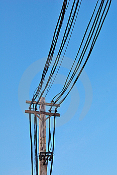Old Electricity Post Royalty Free Stock Image - Image: 18220486