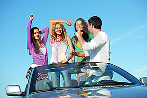 Joy In Cabriolet Stock Photography - Image: 18220692