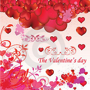 Valentine's Day Card Royalty Free Stock Images - Image: 18221369