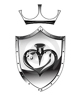 Heart Of A Metal Shield Royalty Free Stock Photos - Image: 18222328
