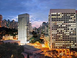 Amazing View Of Hong Kong City Stock Photos - Image: 18222753