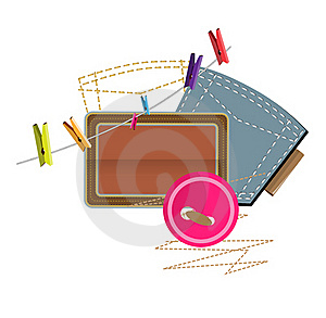 Sewing Clothespins Stock Image - Image: 18223891