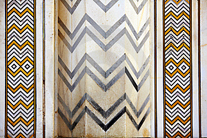 Detail Marbled Mosaic Of Symmetric Jagged Lines Stock Photo - Image: 18224500